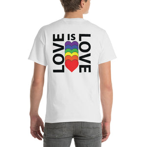 LOVE IS LOVE BACK PRINT Short-Sleeve T-Shirt - Two on 3rd