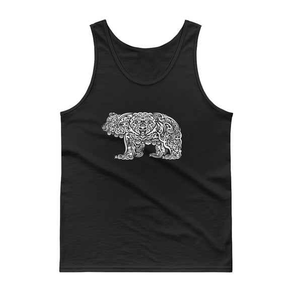 Tribal (white print) Grizzly Tank top - Two on 3rd
