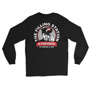 THE FILLING STATION-Back Print Long Sleeve T-Shirt