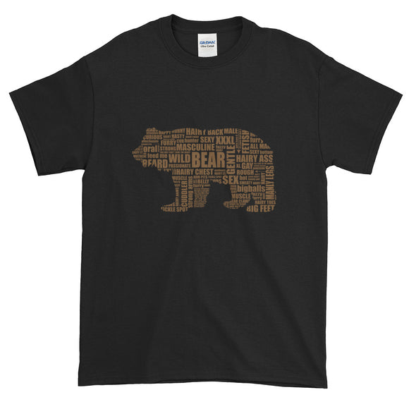 Brown Bear Talk Extended Size Short-Sleeve T-Shirt