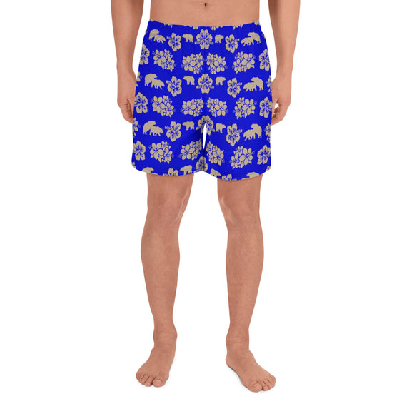 PARADISE All-Over Print Men's Athletic Long Shorts - Two on 3rd