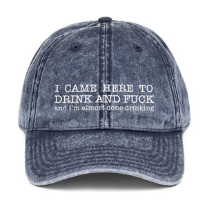 I Came... Vintage Cotton Twill Cap - Two on 3rd
