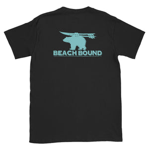 BEACH BOUND BACK PRINT Short-Sleeve Unisex T-Shirt - Two on 3rd