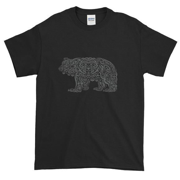 Grey Grizzly Tribal Extended Size Short-Sleeve T-Shirt - Two on 3rd