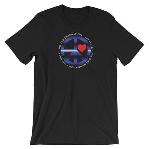 Leather NDNH Front Print Short-Sleeve Unisex T-Shirt - Two on 3rd