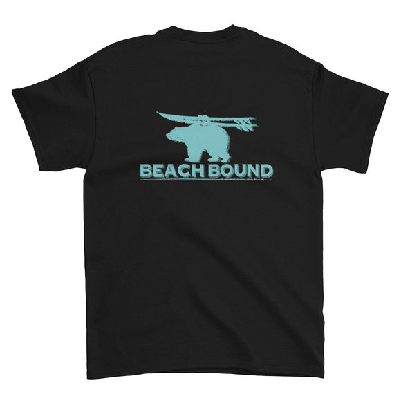 Beach Bound Extended Size Back Print Short-Sleeve T-Shirt - Two on 3rd