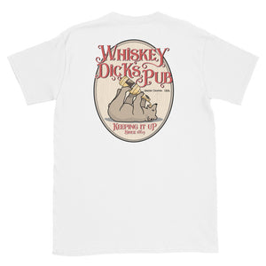 WHISKEY DICKS PUB BACK PRINT Short-Sleeve Unisex T-Shirt