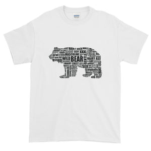 Black Bear Talk  (on white shirt ) Extended Size Short-Sleeve T-Shirt - Two on 3rd