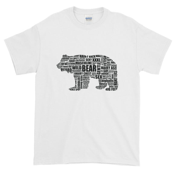 Black Bear Talk  (on white shirt ) Extended Size Short-Sleeve T-Shirt