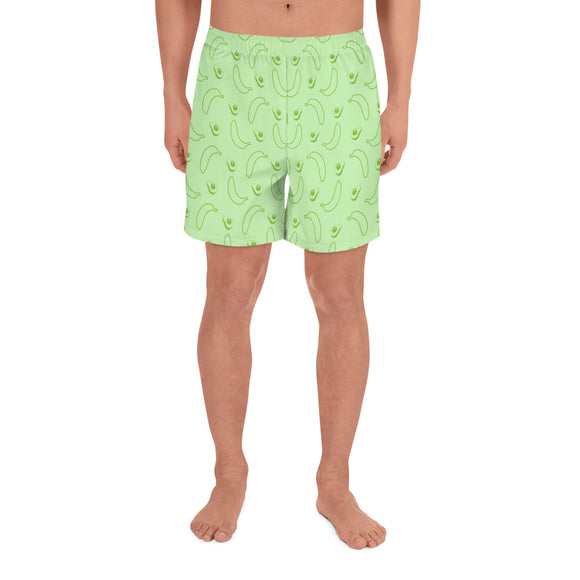 AVOCADOS All-Over Print Men's Athletic Long Shorts - Two on 3rd