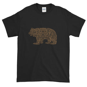 Brown Grizzly Tribal Extended Size Short-Sleeve T-Shirt