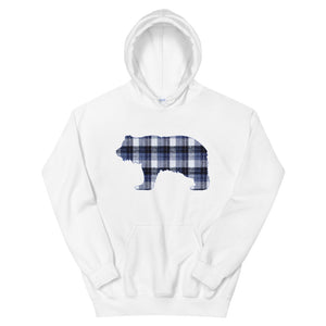 FLANNEL GRIZZLY BLUE Hoodie - Two on 3rd