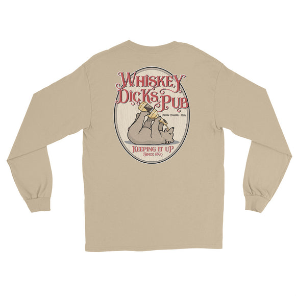 WHISKEY DICKS PUB BACK PRINT Long Sleeve T-Shirt