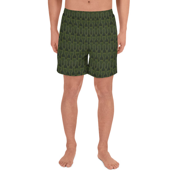 CAMMO All-Over Print Men's Athletic Long Shorts - Two on 3rd