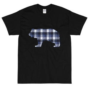 Flannel Grizzly Blue Extended Size Short Sleeve T-Shirt - Two on 3rd
