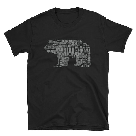 GREY BEAR TALK Short-Sleeve Unisex T-Shirt - Two on 3rd