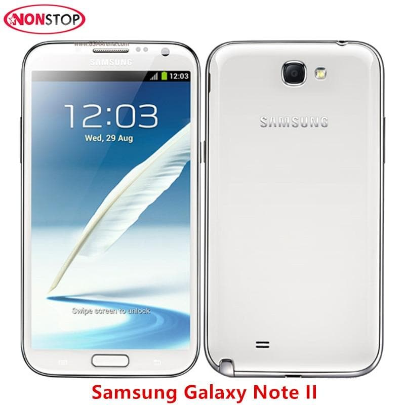 Samsung Galaxy Note II 2 N7100 Android Smartphone 5 5inch 2GB RAM 16GB ROM  3G Refurbished Unlocked Original Mobile phone