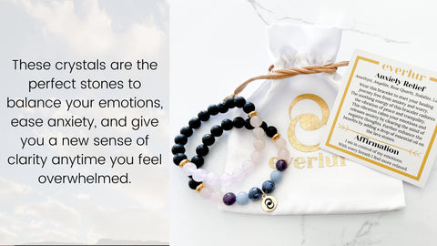 Anxiety relief healing crystal bracelet