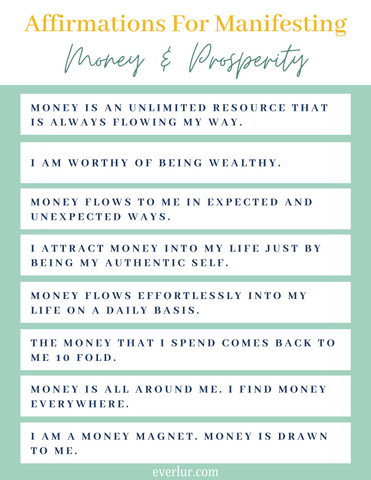 affirmations for money and wealth