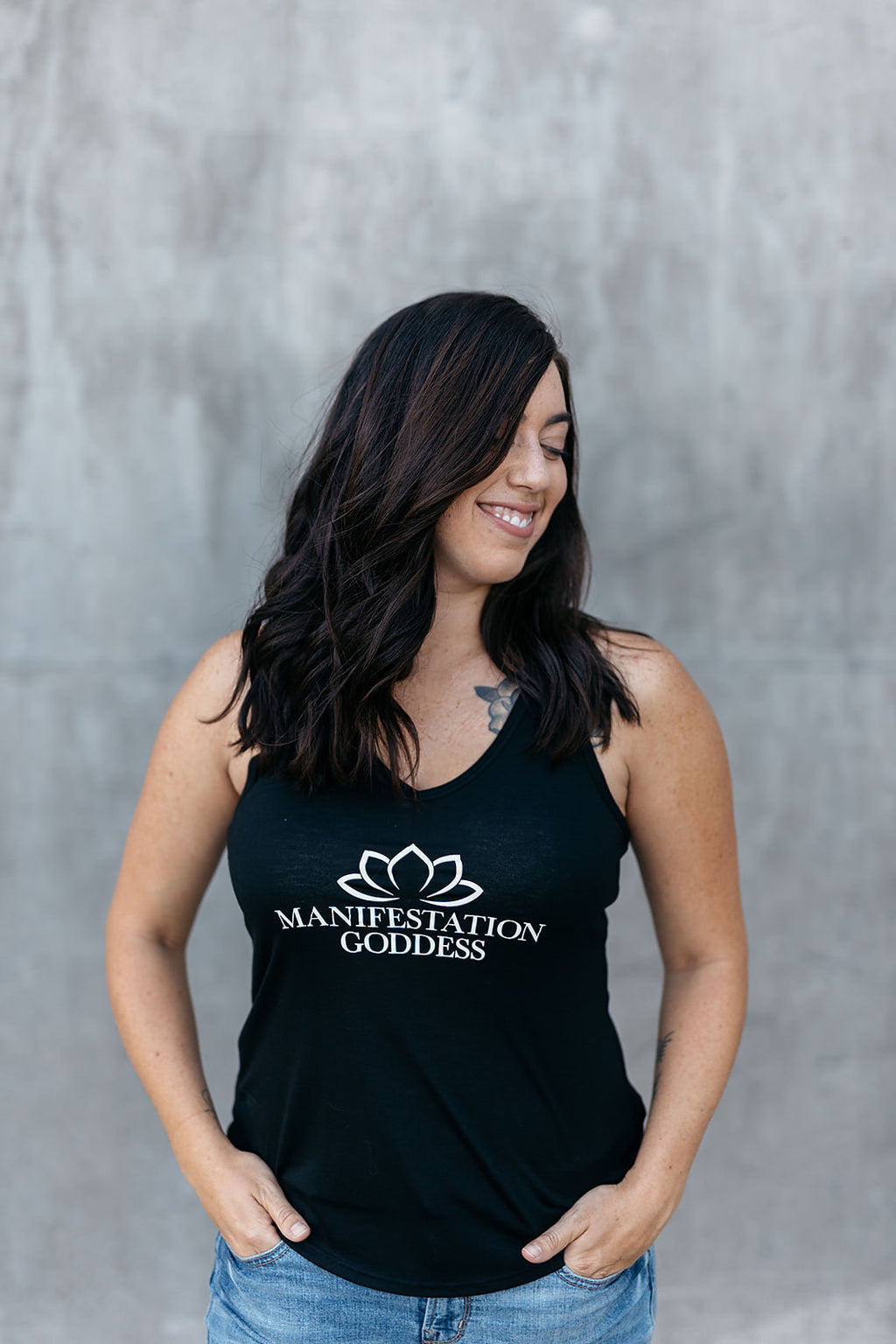 Manifestation Goddess V-Neck Tank - everlur spiritual clothing
