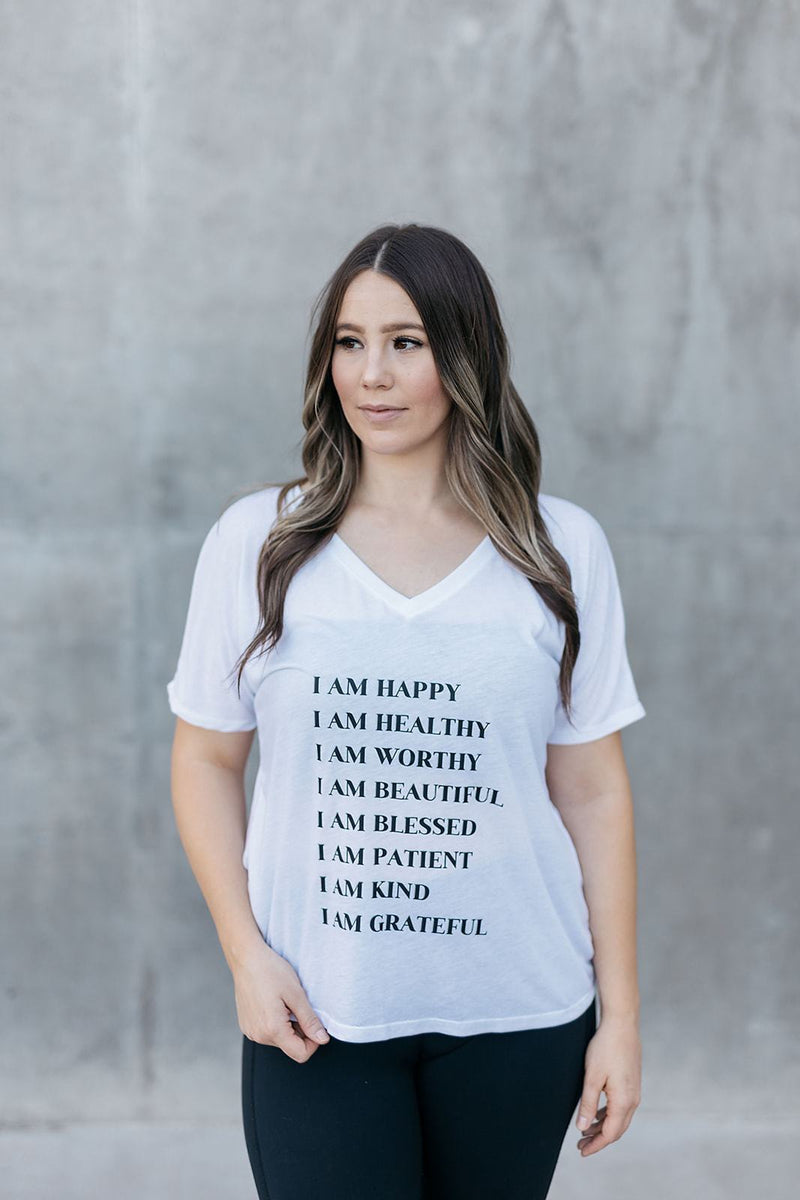 I AM Affirmations Tee - everlur spiritual clothing. Positive Affirmations.