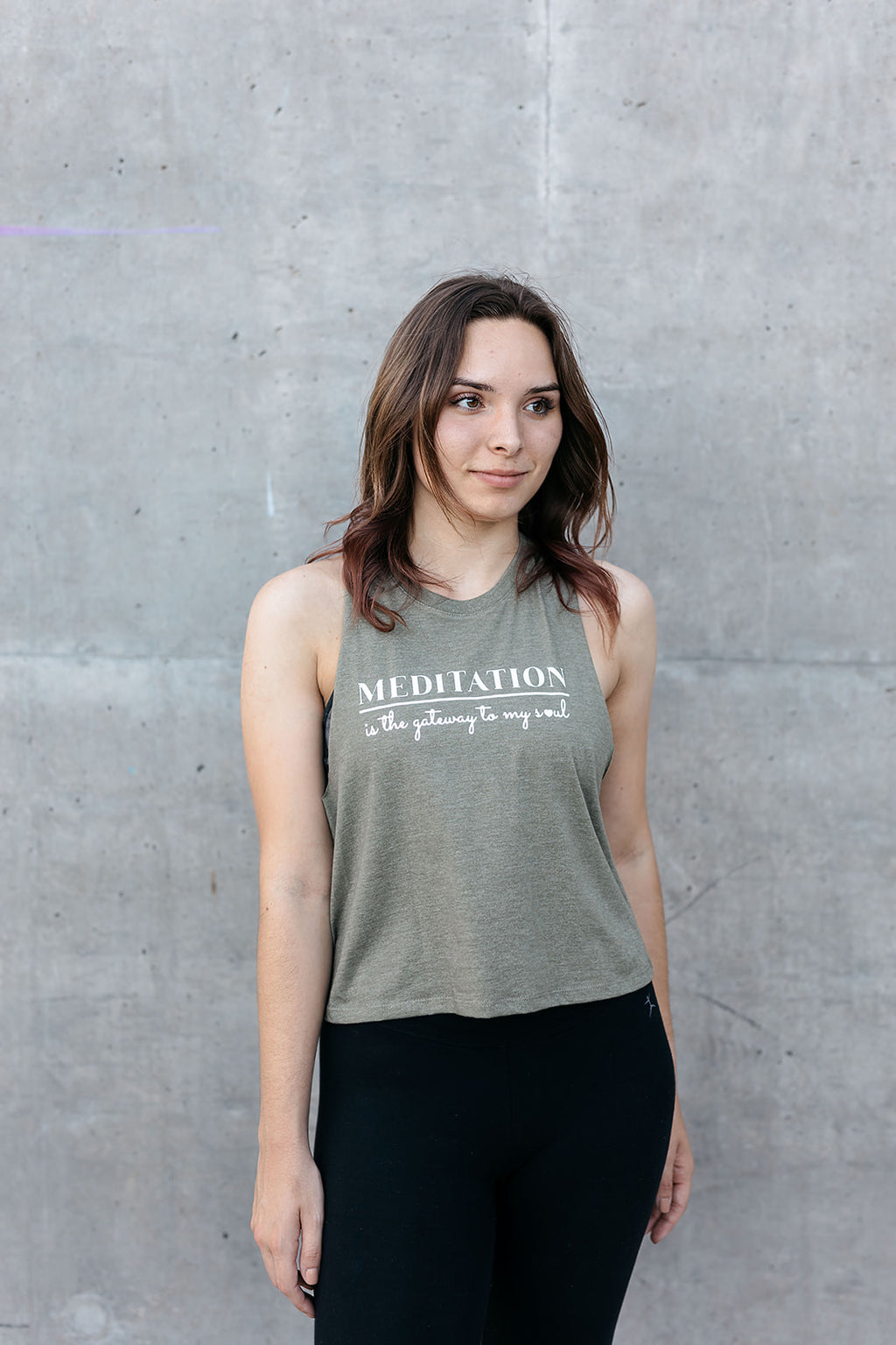 Meditation Is The Gateway To My Soul Crop Tank - everlur spiritual clothing