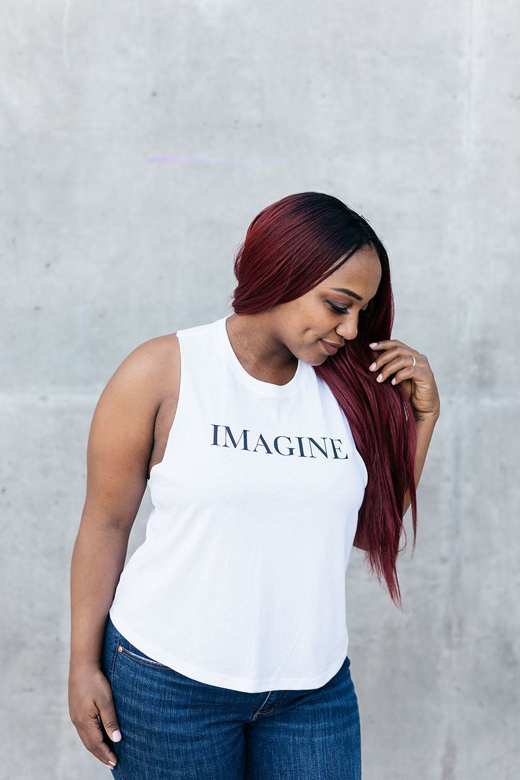 Imagine Crop Tank Top - everlur spiritual clothing