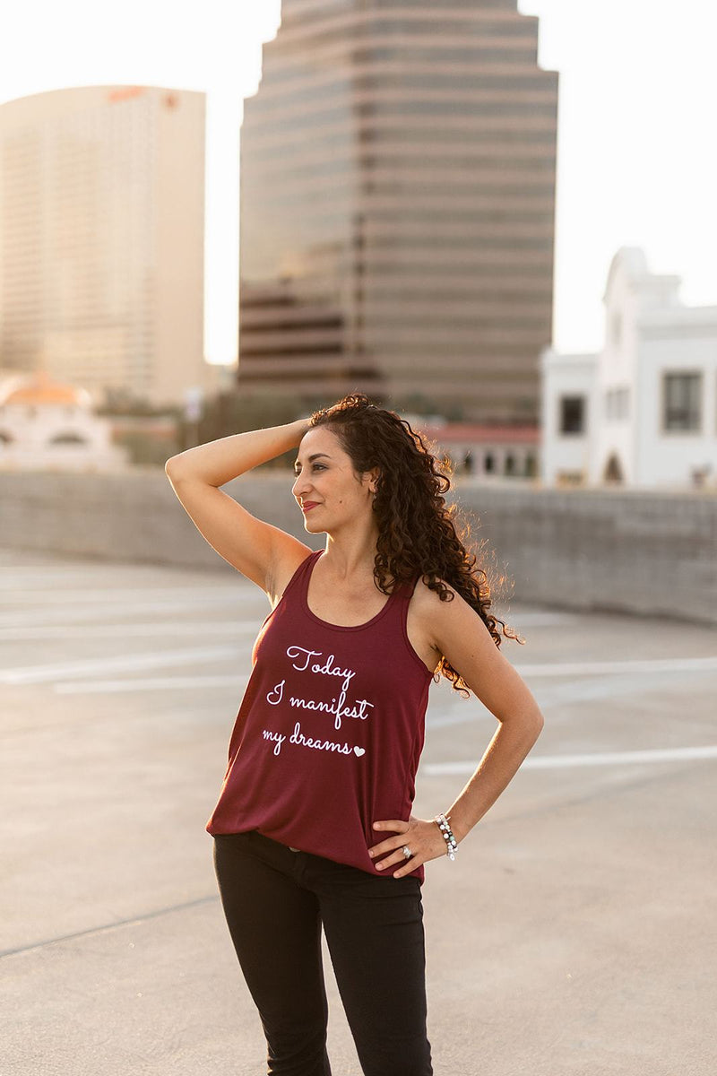 Today I Manifest My Dreams Racerback Tank - everlur spiritual clothing