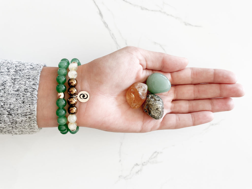 Money & Prosperity Aventurine Stack