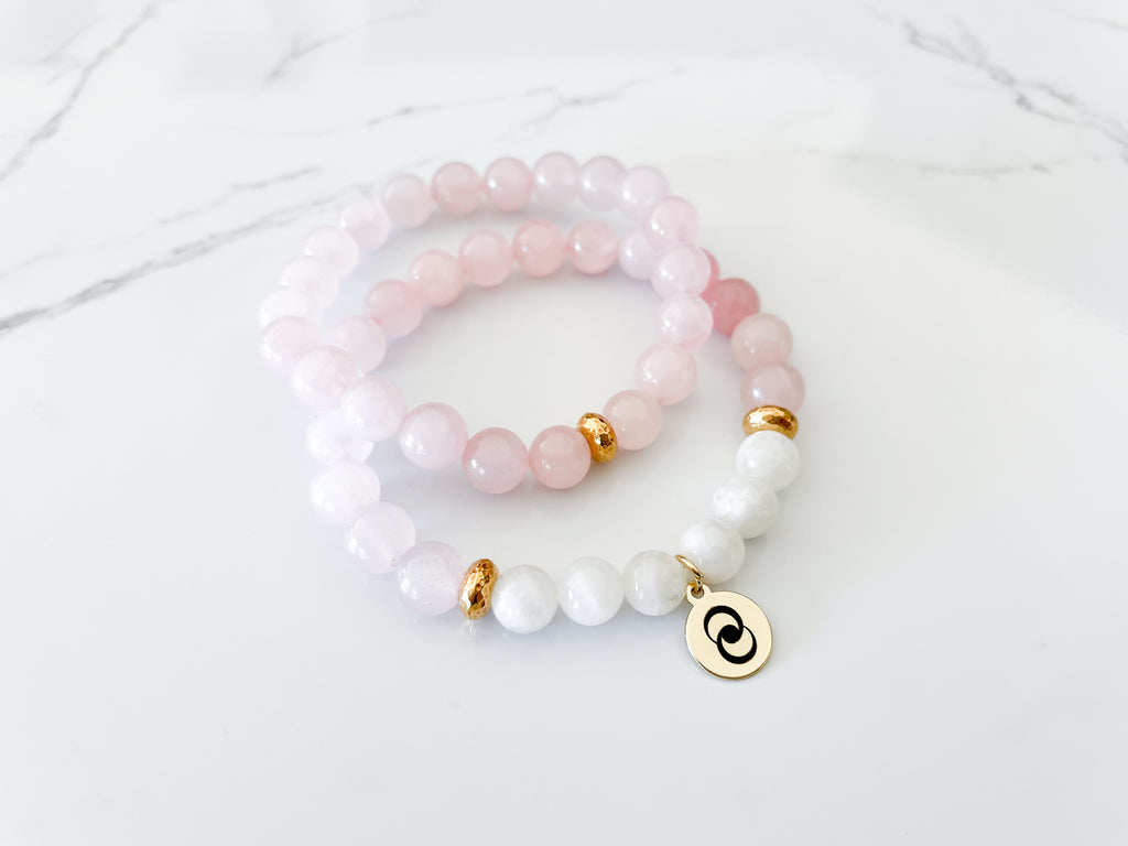 Love & Relationship Crystal Bracelet Stack