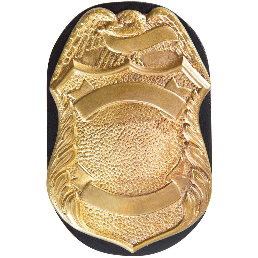 7350-04 - Badge Holder Oval, Clip-On