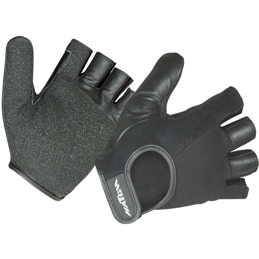 Leather Wheelchair Para-Push Gloves, Half Finger