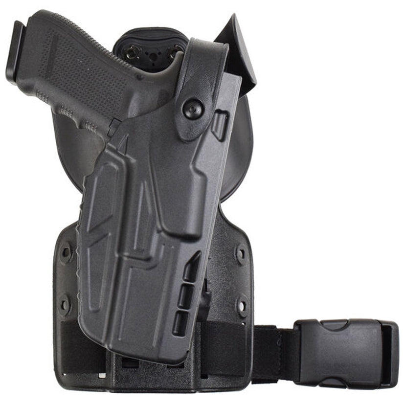 Model 7304-SP6 7TS™ ALS/SLS® UFA (Universal Flex Adapter) w/ Paddle & Single Strap Leg Shroud Tactical Holster - Safariland