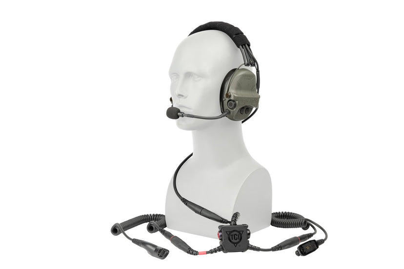 LIBERATOR® V Advanced Dual Comm Headset with Hearing Protection and PTT System - Safariland