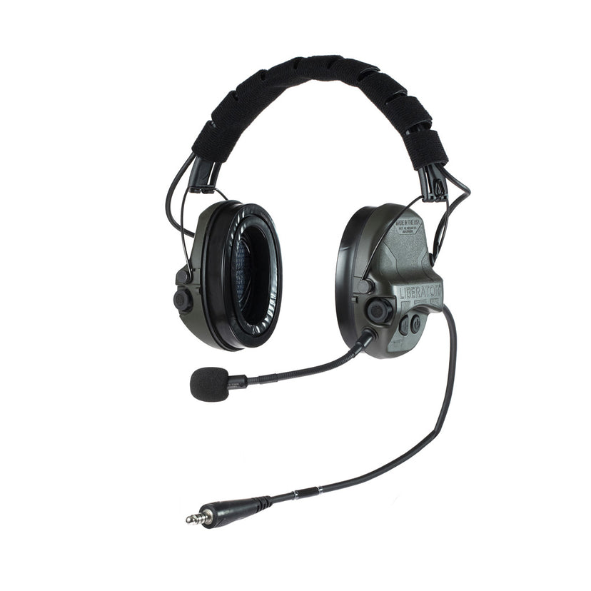 Liberator® IV Advanced Single Comm Headset with Hearing Protection - Safariland