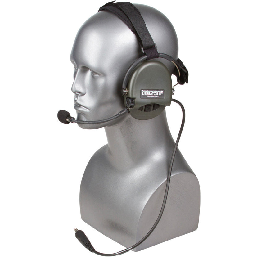 Liberator® II Tactical Headset with Integrated Digital Hearing Protection (Headset only or select with TCI Tactical PTT)