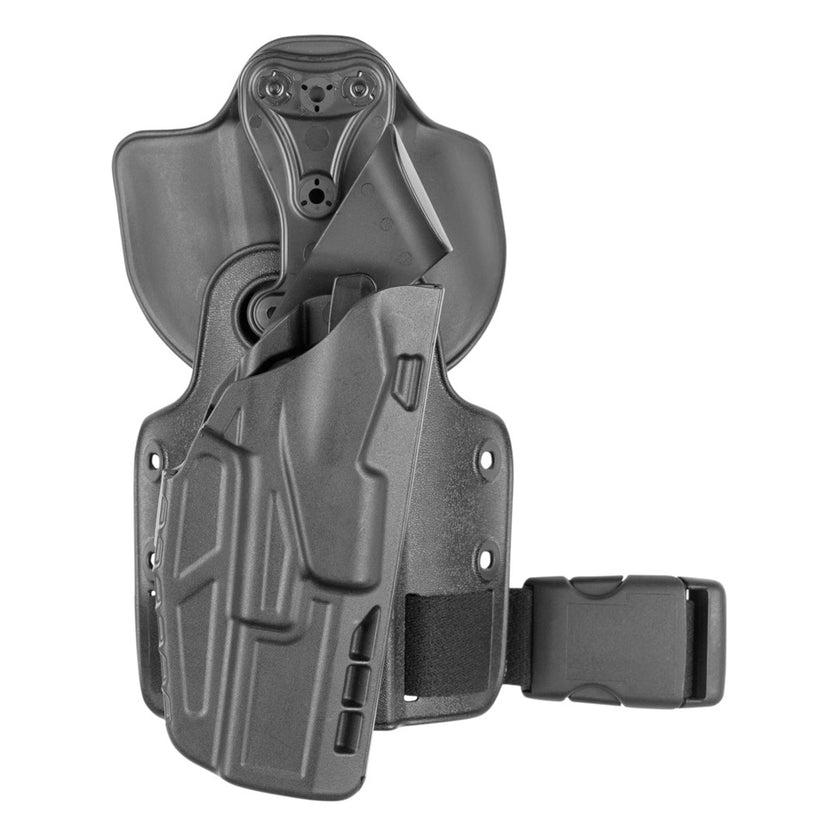 Model 7384-SP6 7TS™ ALS® UFA (Universal Flex Adapter) w/ Paddle & Single Strap Leg Shroud Tactical Holster - Safariland