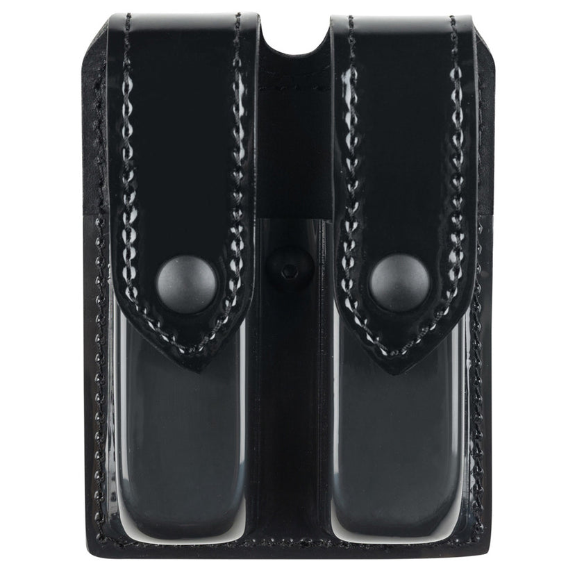 77 - Double Magazine Pouch Black Snap - Safariland
