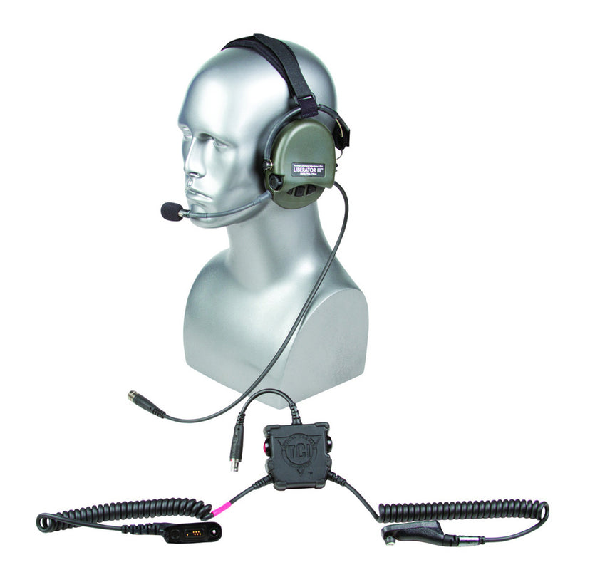 LIBERATOR® III LITE Secure Dual-Comm Tactical Headset with Integrated Digital Hearing Protection