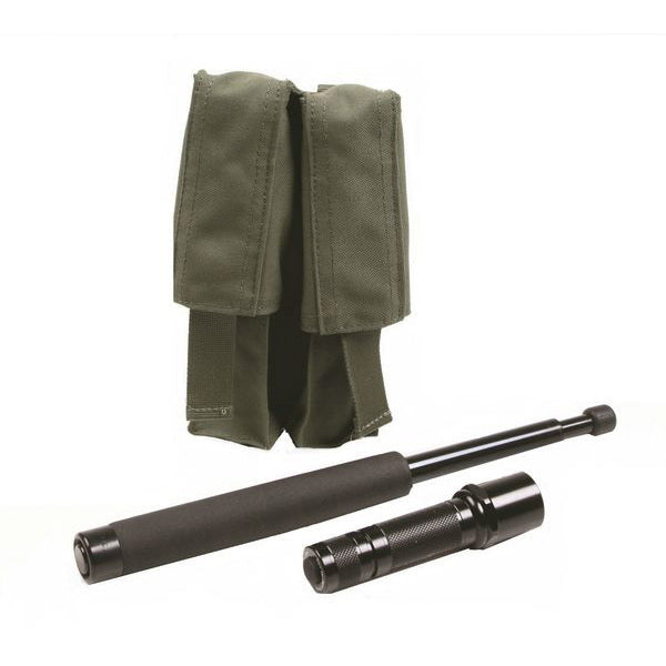 TP14A - Expandable Baton/Flashlight Pouch, Double