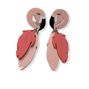 Flapping Flamingo earrings