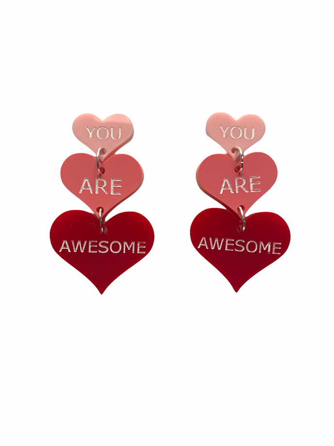 You are awesome earrings