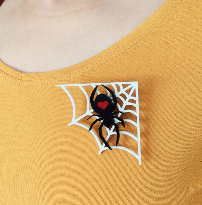 Spider Love Brooch