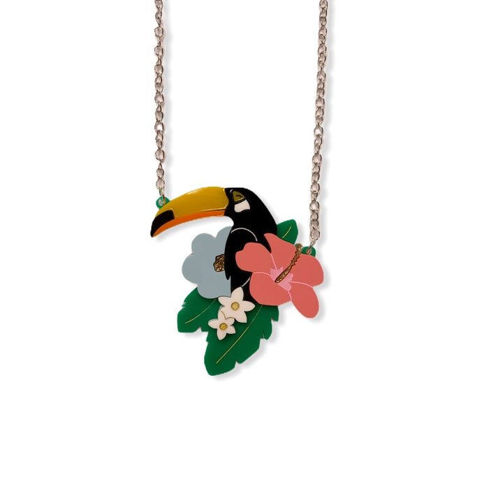 Tropical Toucan Necklace