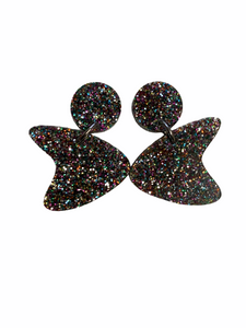 Boomerang Earrings - multi glitter