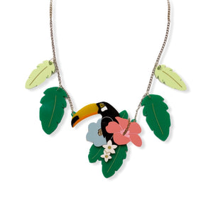 Tropical Toucan Statement Necklace