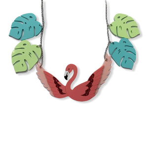 Flapping Flamingo Statement necklace