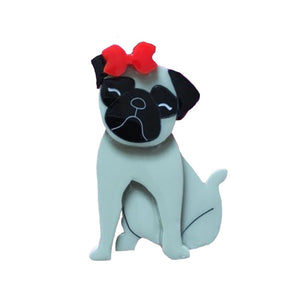Penelope the Pug Brooch