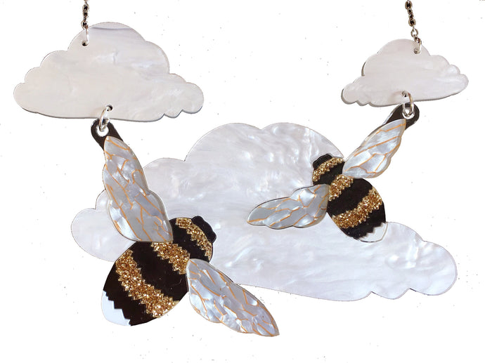 Bee in the clouds Necklace