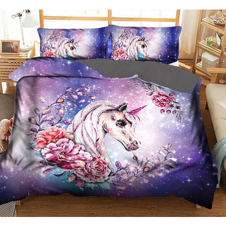 Unicorn with flowers - Custom Print